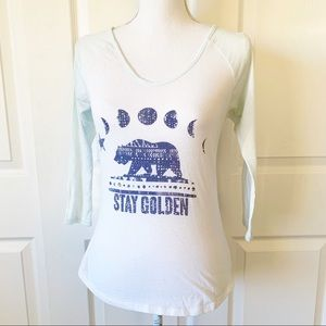 Volcom Stay Golden Baseball Tee Shirt Size S